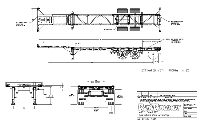 40' Chassis Drawing