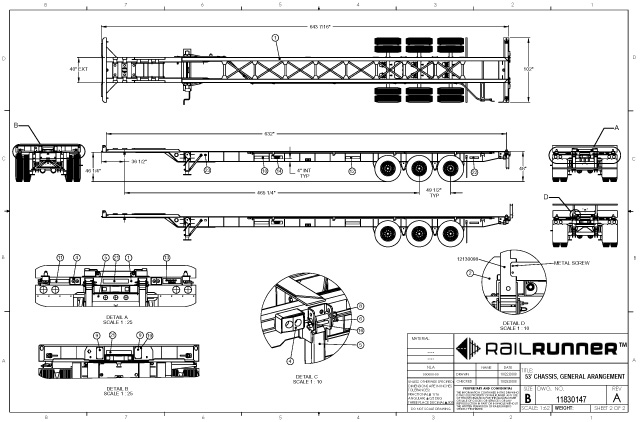 53' Chassis Drawing