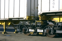 RailRunner chassis front end engaged with bogie